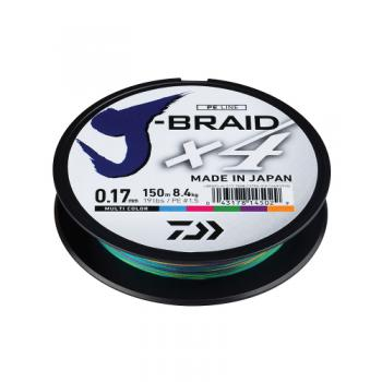 Daiwa J-Braid X4 Multicolor 150m