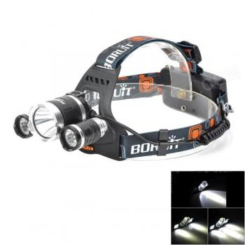3 x CREE XM-L T6 4 Mode 3000lm Adjustable Zoom LED Flashlight / Headlight